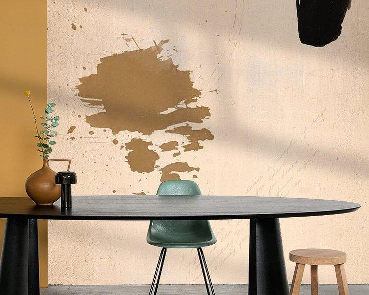 Sfeerimpressie behang: Abstract Paint van MDRN HOME