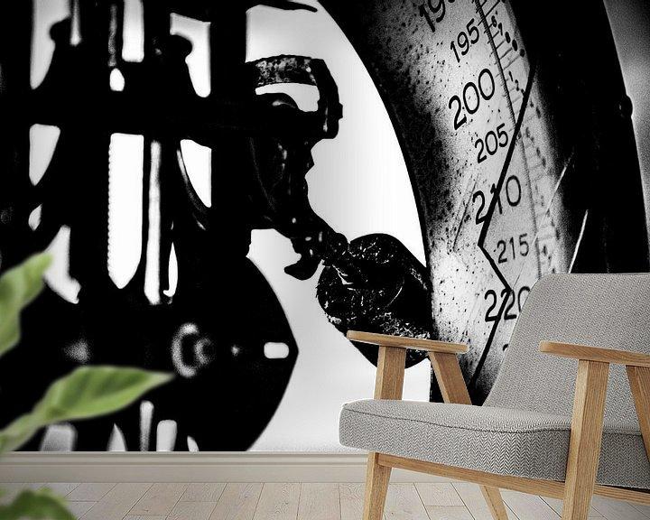 Sfeerimpressie behang: WEEGSCHAAL BAUMWOLL SPINNEREI van SchippersFotografie