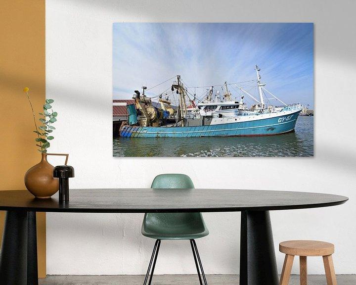 Impression: Le navire de pêche GY-57 Eben Haëzer sur Piet Kooistra