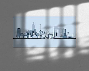 Rotterdamse Skyline - Bright Skies van Frans Blok