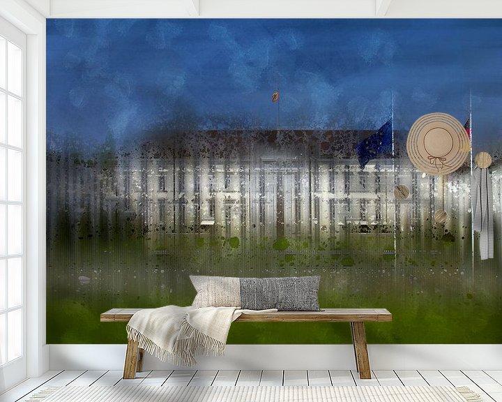 Sfeerimpressie behang: City-Art BERLIN Schloss Bellevue van Melanie Viola