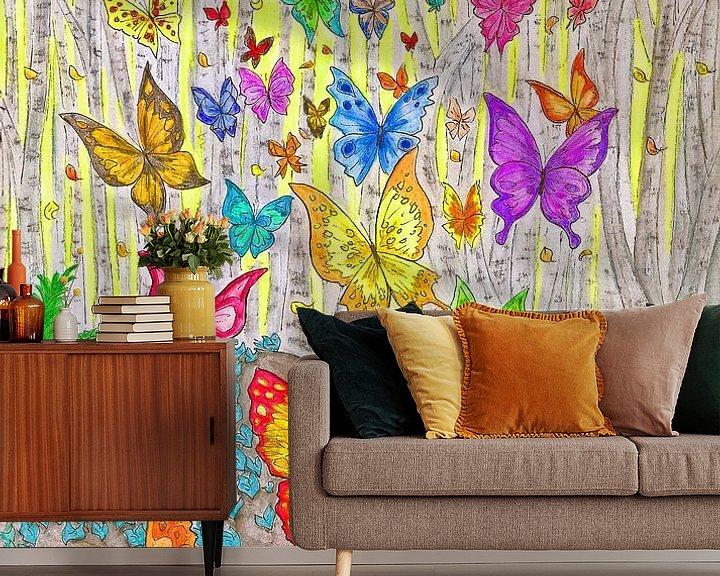 Sfeerimpressie behang: De Windekinderen  van Jose Beumers