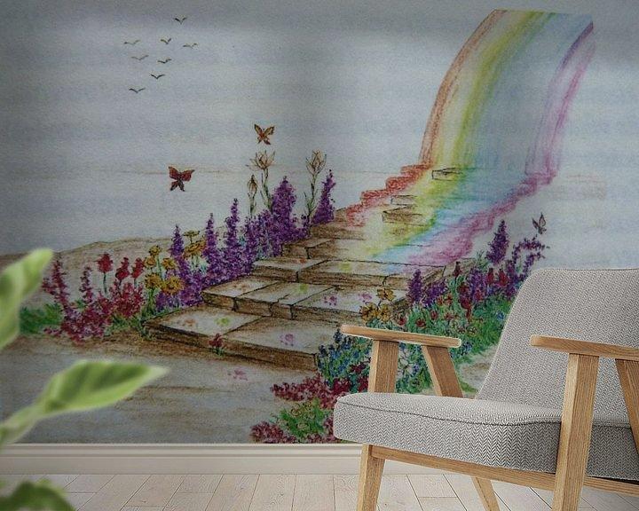 Sfeerimpressie behang: De regenboogbrug  van Jose Beumers