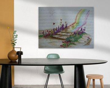 De regenboogbrug  von Jose Beumers