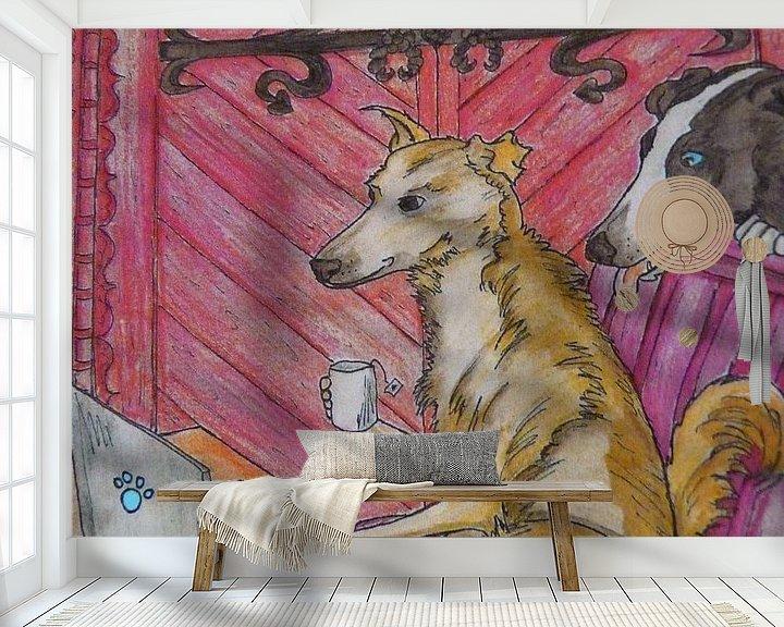 Sfeerimpressie behang: Kyte en Yula ( OTSJO ) van Jose Beumers
