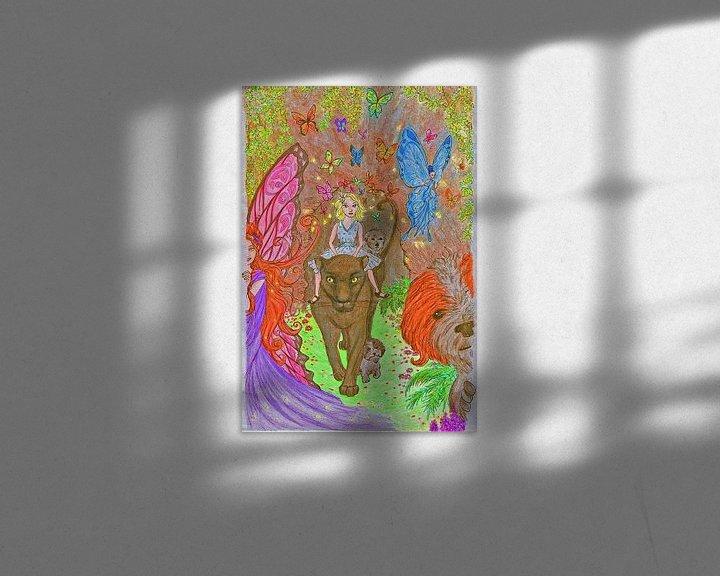 Sfeerimpressie: Winde met de panter Kai van Jose Beumers