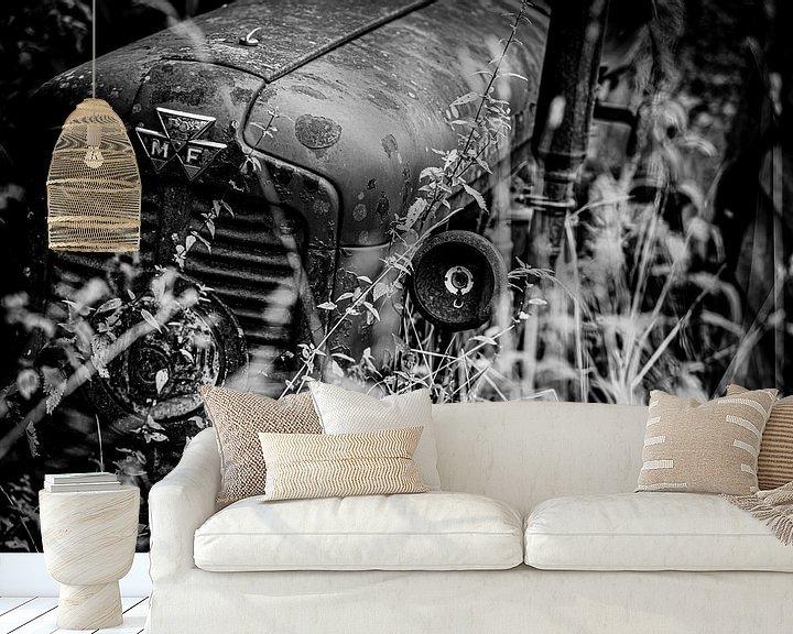 Sfeerimpressie behang: MASSEY FERGUSON TRACTOR van SchippersFotografie