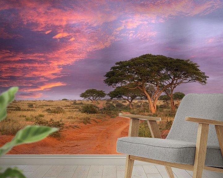 Impression: Coucher de soleil dans le parc national de Murchison Falls, Ouganda sur Alexander Ludwig