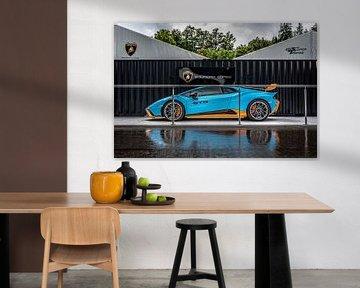Blue Lamborghini Huracan STO van Bas Fransen
