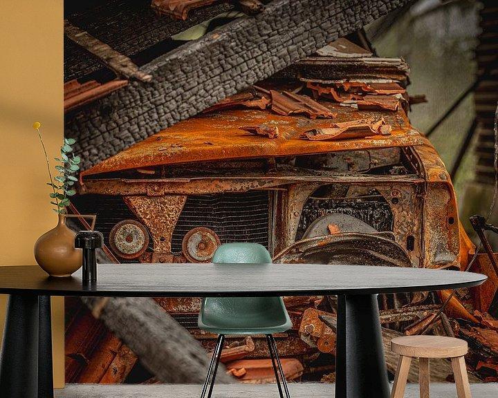 Sfeerimpressie behang: BURNT VOLVO van SchippersFotografie