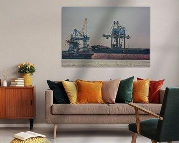 Bulkcarrier Jewel afgemeerd om te lossen in de haven Rotterdam. van scheepskijkerhavenfotografie