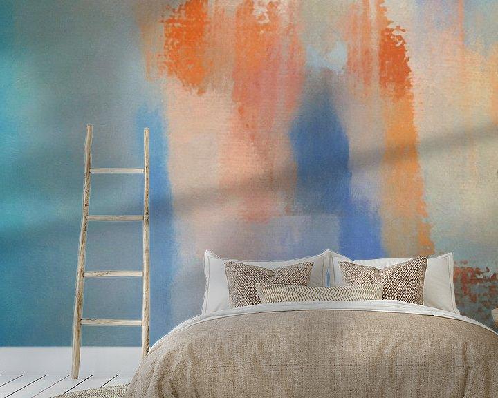 Sfeerimpressie behang: Oranje wolk van Georgia Chagas