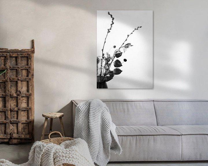 Beispiel: Trockenblumen in Schwarz und Weiß von Mei Bakker