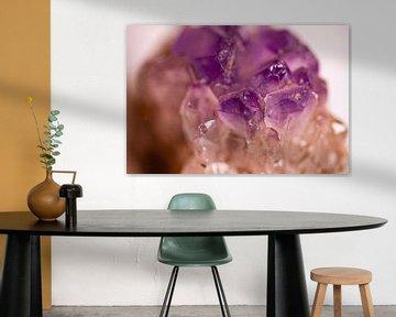 Paarse amethist van dichtbij van 2BHAPPY4EVER.com photography & digital art