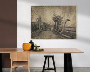 Weg achter de pastorietuin te Nuenen - Vincent van Gogh