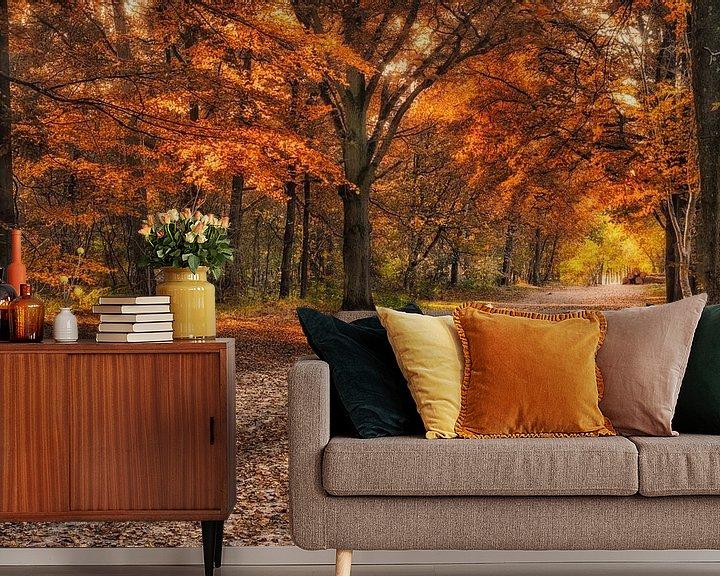 Beispiel fototapete: Herbst in Mastbos von Sander Poppe