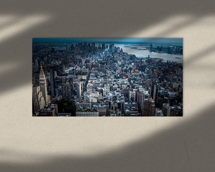 Sfeerimpressie: New York from Empire State Building van Alex Hiemstra