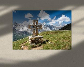 Croix sur la route des hautes Alpes du Grossglockner sur ManfredFotos