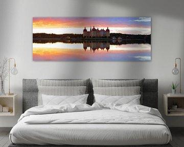 Château de Moritzburg au coucher du soleil