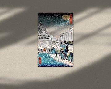 De veerboot bij Yoroi Utagawa Hiroshige II