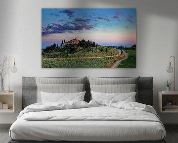 Toscaanse zonsondergang Italië van Stefan Vis