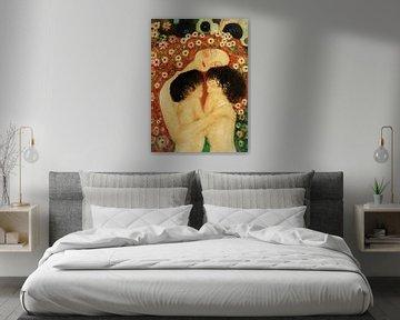 Moederliefde, geïnspireerd door Gustav Klimt. van Ineke de Rijk