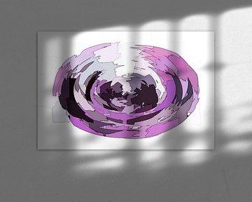 Ovala viola desegna kubismo
