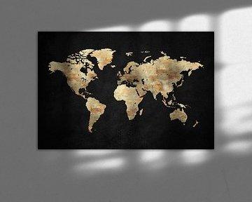 Carte du monde artistique XIII sur Art Design Works