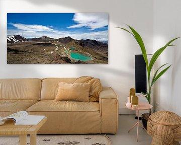 Tongariro Alpine Crossing & Emerald Lakes - Panorama, Nieuw Zeeland van Ricardo Bouman