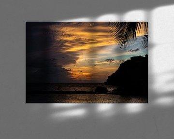 Zonsondergang Curaçao van Maikel van Willegen Photography