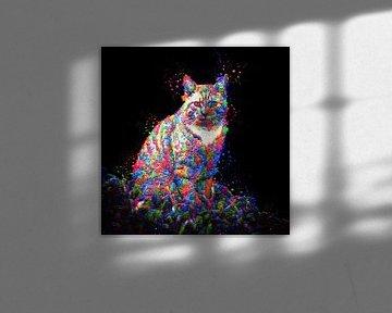 Color cat (schilderij) van Art by Jeronimo