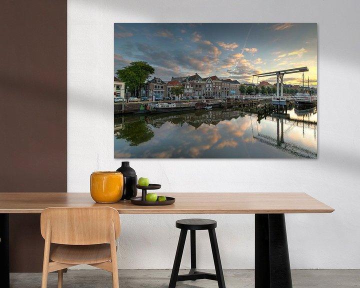 Impression: Thorbeckegracht Zwolle avec le pont Pelser sur Fotografie Ronald