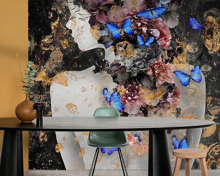 Sfeerimpressie behang: Wild Flowers van Maaike Wycisk