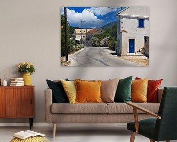 Straßenansicht auf der griechischen Insel Kefalonia von Hans Vos Fotografie