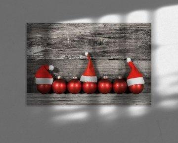 Decoratie rode kerstballen van Alex Winter