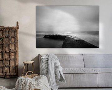 Pier bij Whiting Bay, Isle of Arran, Schotland van Johan Zwarthoed