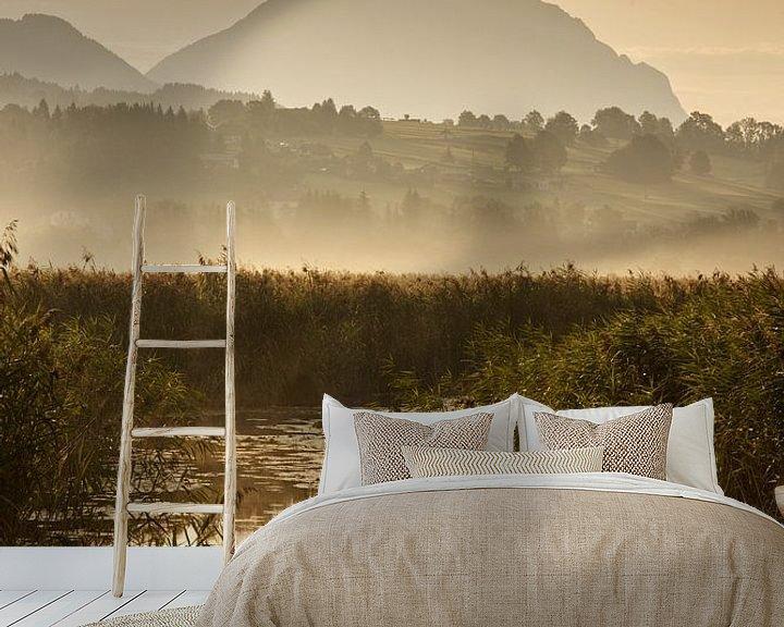 Beispiel fototapete: Sonnenaufgang am Dobratsch von Michael Wolf