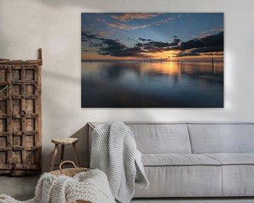 IJsselmeer avec des poteaux-pièges sur FotoBob