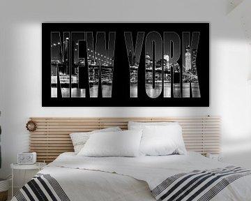 New York City Brooklyn Bridge b/w II von Melanie Viola