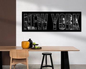 New York City Brooklyn Bridge b/w von Melanie Viola