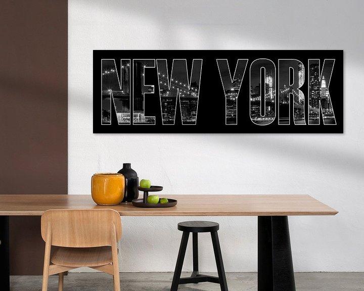 Impression: New York City Brooklyn Bridge b/w sur Melanie Viola