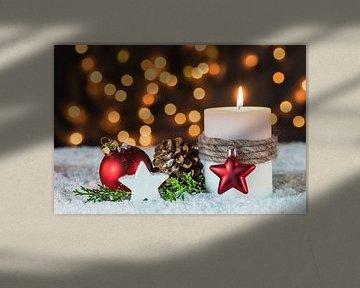 Advent en Kersttijd met kaarsvlam van Alex Winter