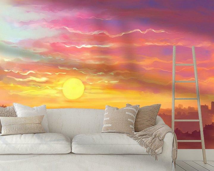 Sfeerimpressie behang: Waar de zon onder gaat van Petra van Berkum