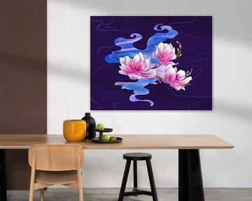 Magnolia in de nacht von Petra van Berkum
