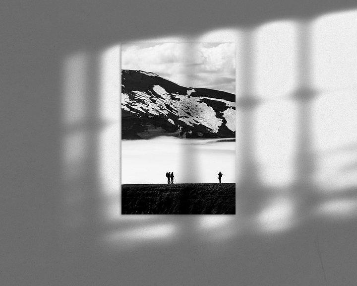 Beispiel: Silhouette von Menschen in den Bergen und Schnee | Island von Photolovers reisfotografie