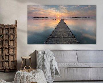 Lange Belichtungszeit in der Abendsonne am Veerse Meer von Jan Poppe