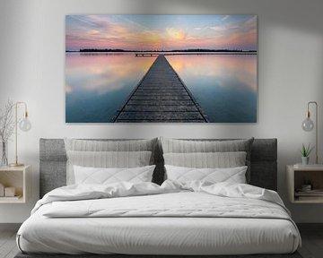 Sonnenuntergang am Veerse Meer von Jan Poppe