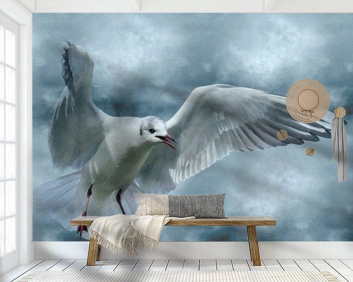 Sfeerimpressie behang: Schrei nach Freiheit van Ursula Di Chito