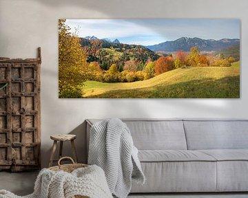 L'automne dans les montagnes près de Garmisch Wamberg sur Susanne Bauernfeind