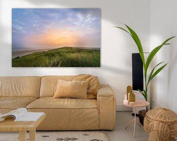 zonsopkomst boven op het duin van zeilstrafotografie.nl